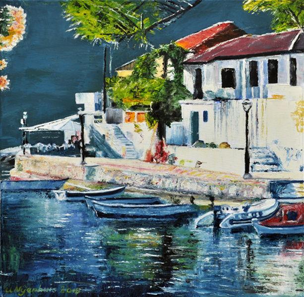 Nachts sind alle Boote grau, Gemälde